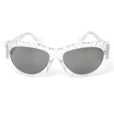 Balenciaga Clear Bubble Frame Sunglasses