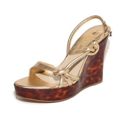 Christian Dior Size 9 Tortoise Wedge Heels