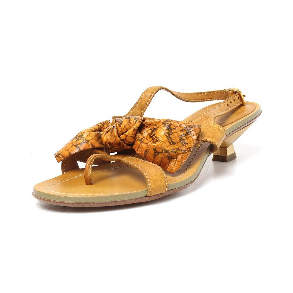 Miu Miu Size 36.5 Yellow Sandals