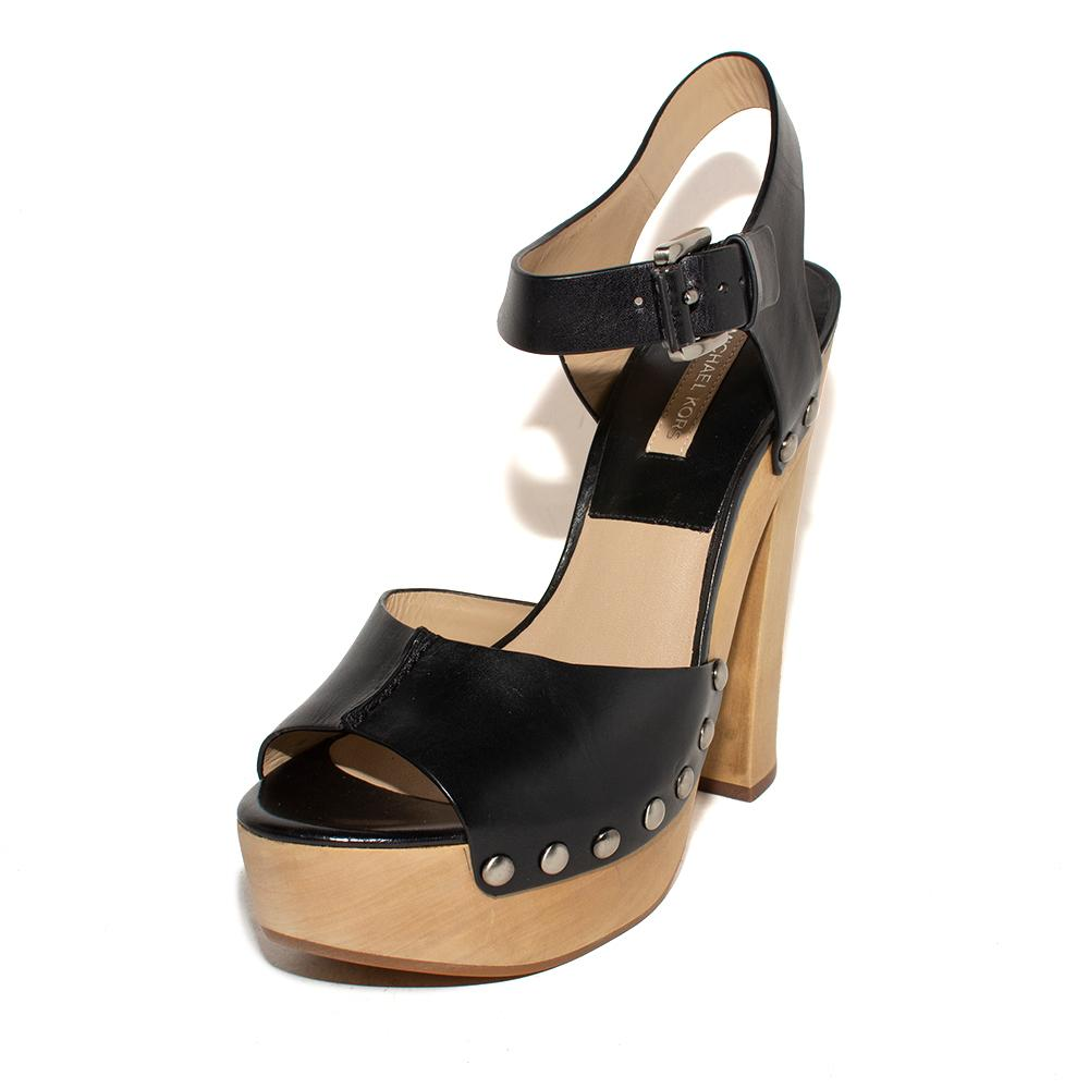 Michael Kors Size 38.5 Wooden High Heels
