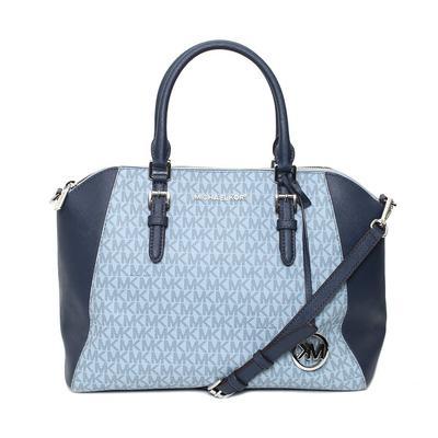 Micharl Kors Blue Monogram Bag