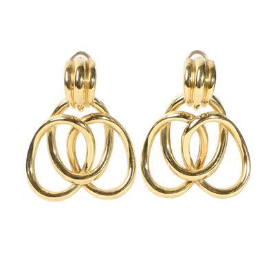 18k Yellow Gold Door Knocker Earrings