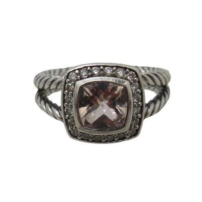 David Yurman Sterling Silver Diamond Albion Ring Size 6