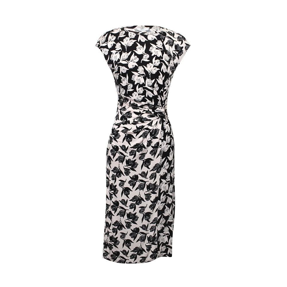 Joie Size L Black Print Dress