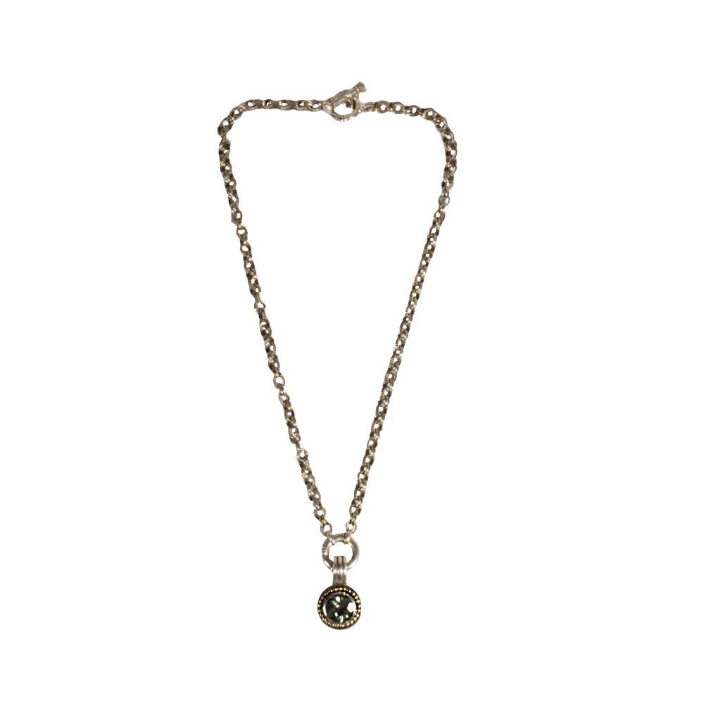 Topaz 14 Karat And Sterling Silver Necklace