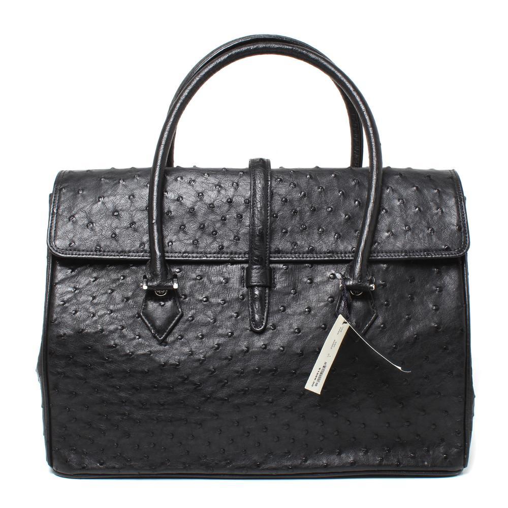 Brooks Brothers Ostrich Satchel Bag