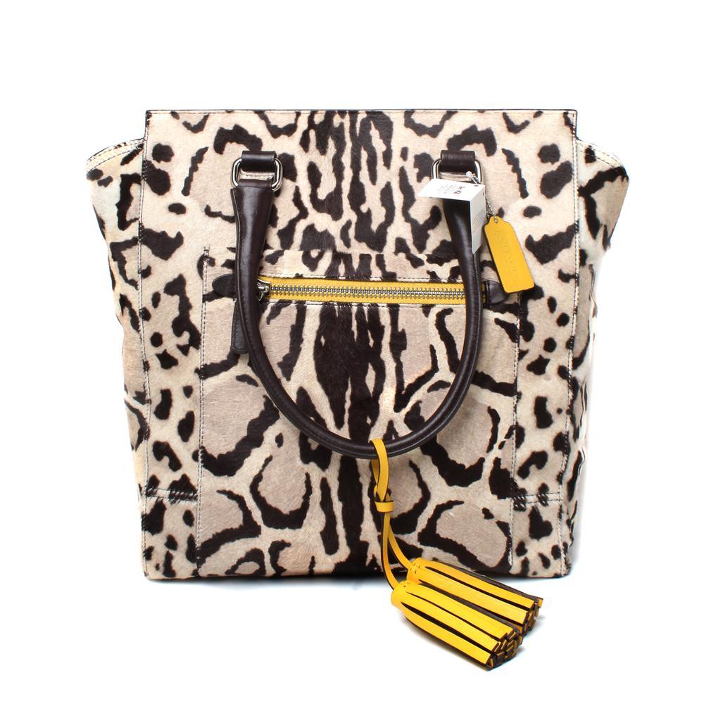 Coach Ocelot Calf Hair Leopard Print Bag