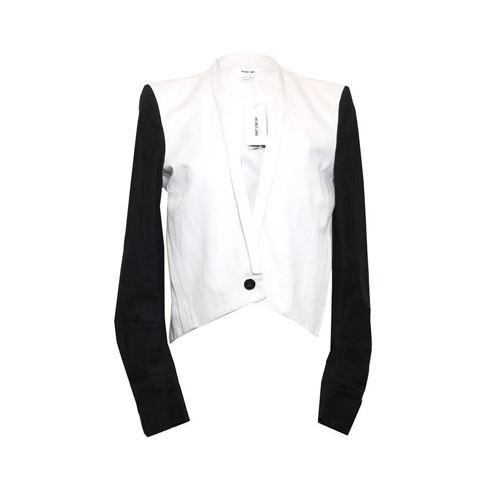 Helmut Lang Size 6 Black & White Blazer