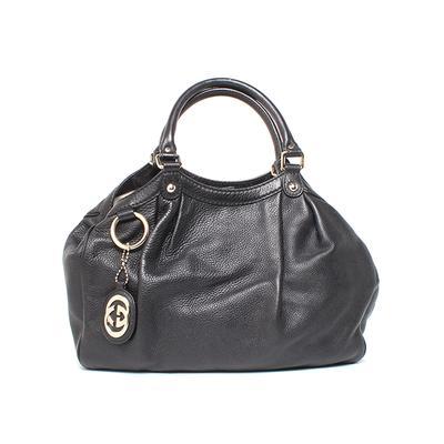 Gucci Sukey Medium Black Leather Satchel
