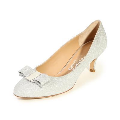 Salvatore Ferragamo Size 7 Vara Glitter Heels