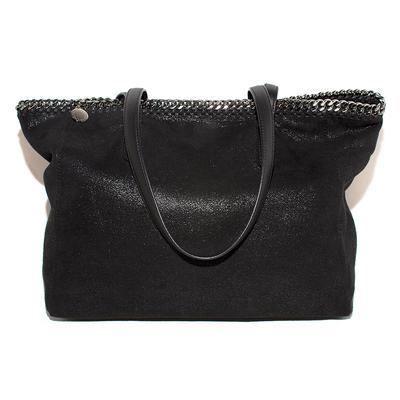 Stella McCartney Black Suede Tote Bag
