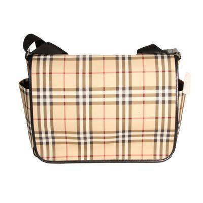 Burberry London Coat Nova Check Messenger Bag