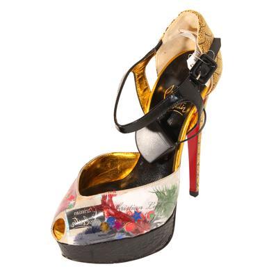 Christian Louboutin Size 6.5 Watersnake Luicda Heels