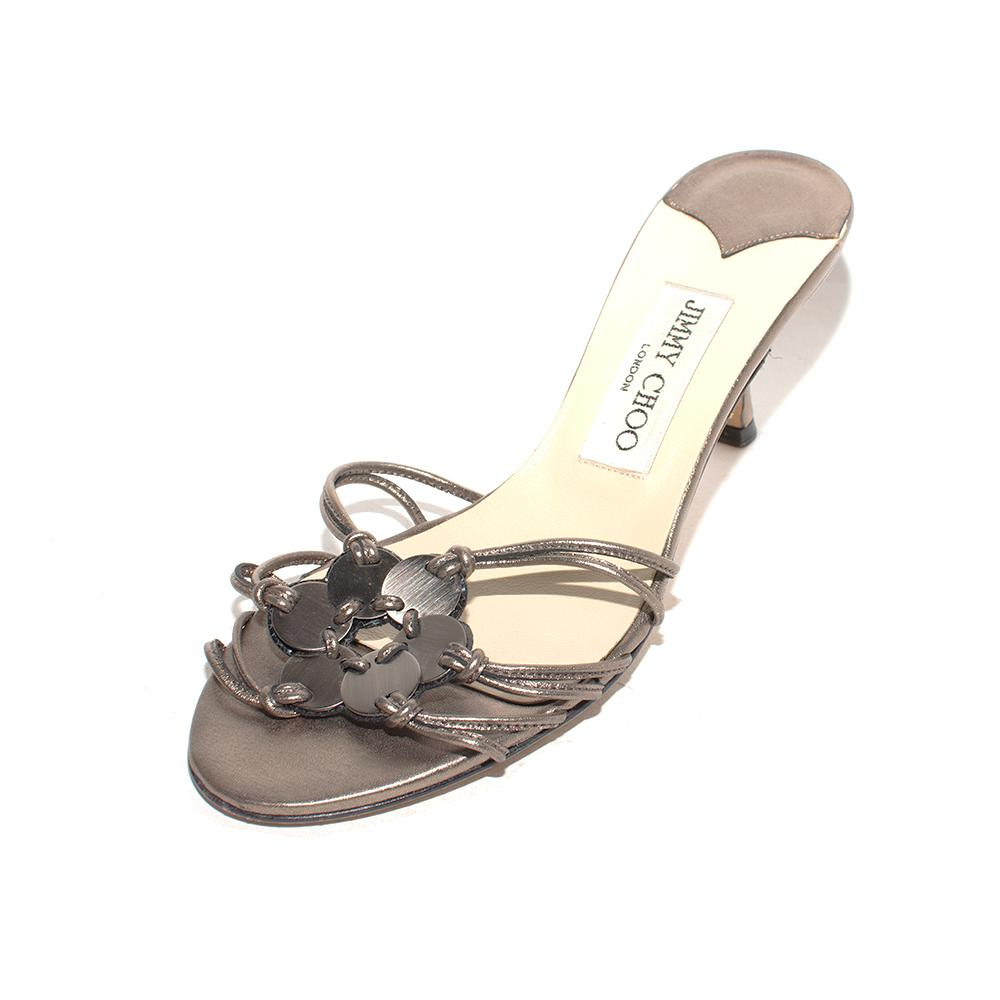 Jimmy Choo Size 36 Metallic Slide Heels