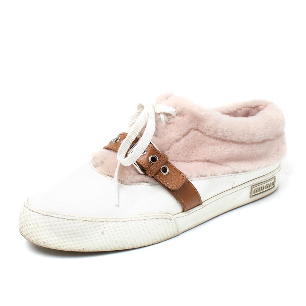 Miu Miu Size 9.5 Shearling Sneakers