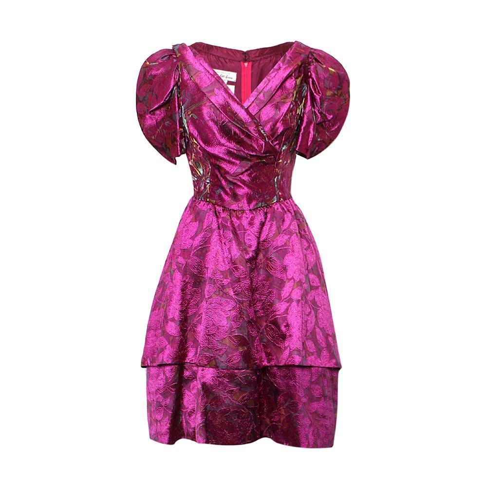 Oscar De La Renta Size 10 Purple Dress