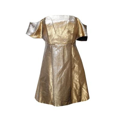Sandro Size 2 Gold Dress