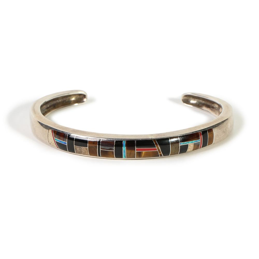 Multi Gemstone Inlay Bracelet