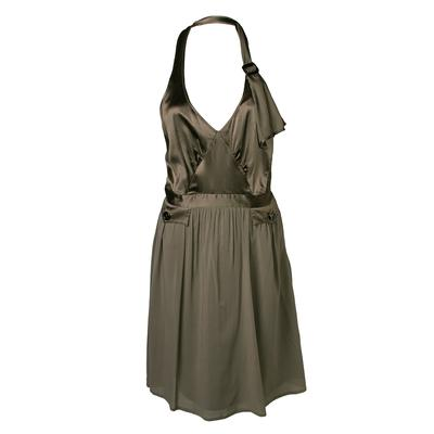 Burberry Size 8 Grey Halter Dress