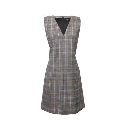 Theory Size 12 Grey Plaid Dress