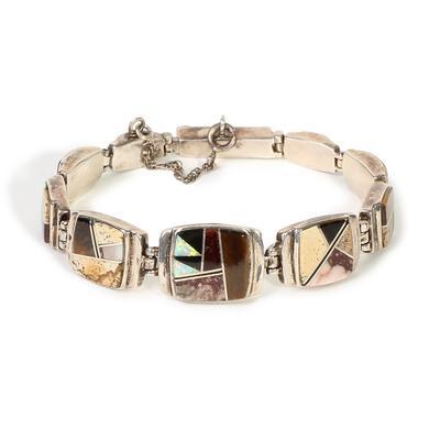 Multi Link Inlay Bracelet