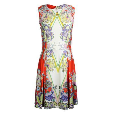 Roberto Cavalli Size Medium Floral Dress New
