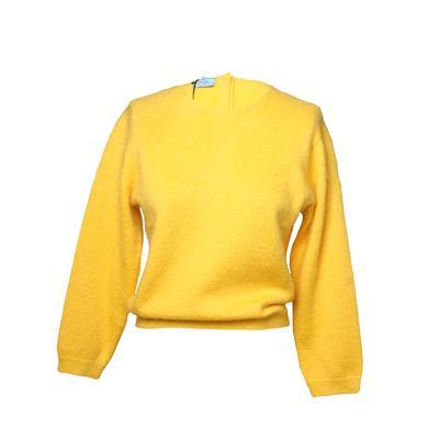 Prada Size 40 Yellow Sweater
