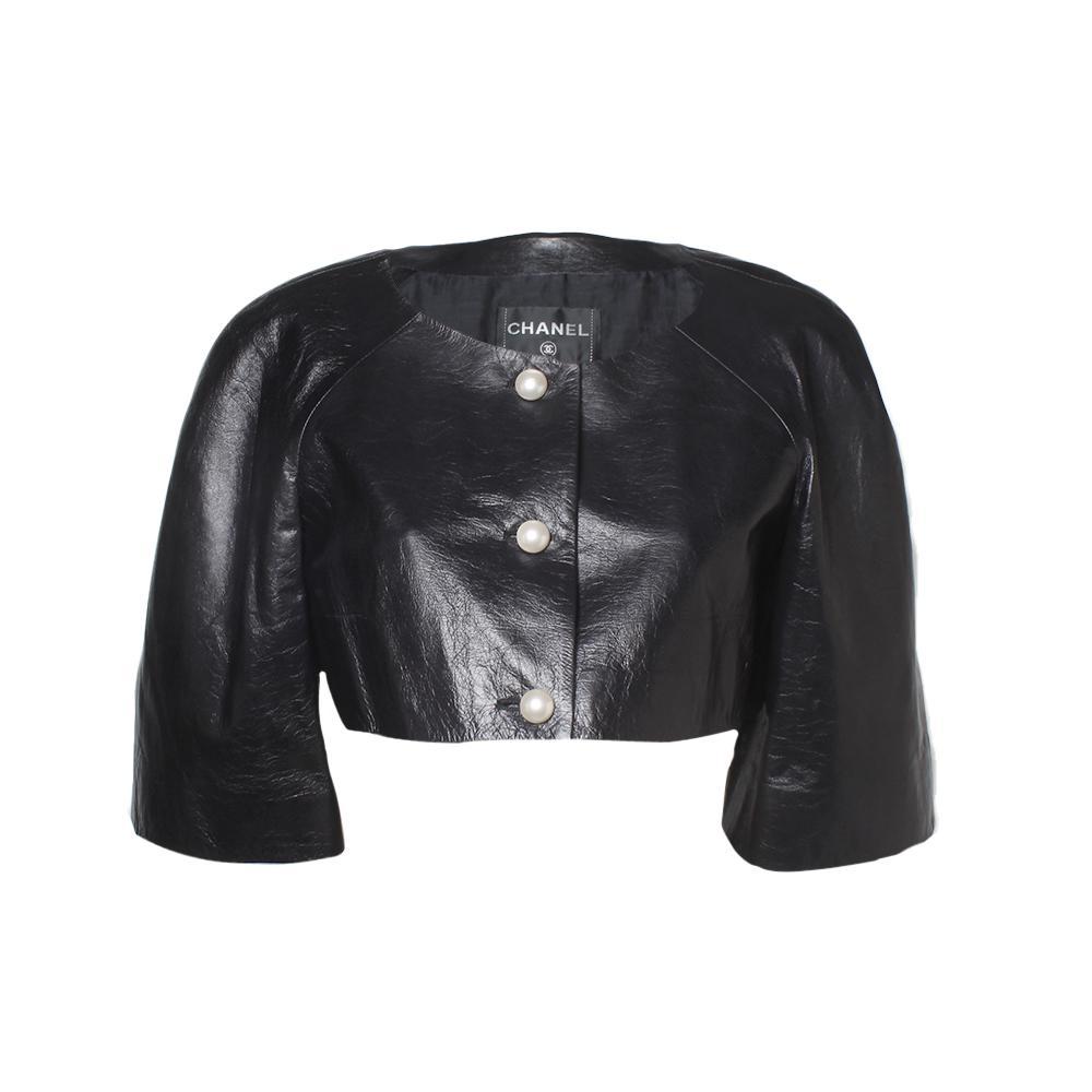 Chanel Size 40 Black Lambskin Bolero
