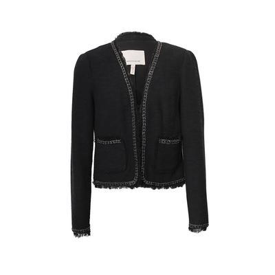Rebecca Taylor Size Small Black Woven Jacket