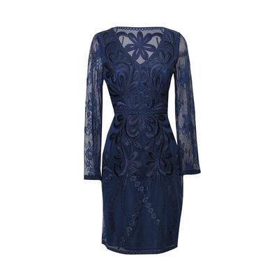 Sue Wong Size 8 Navy Dress