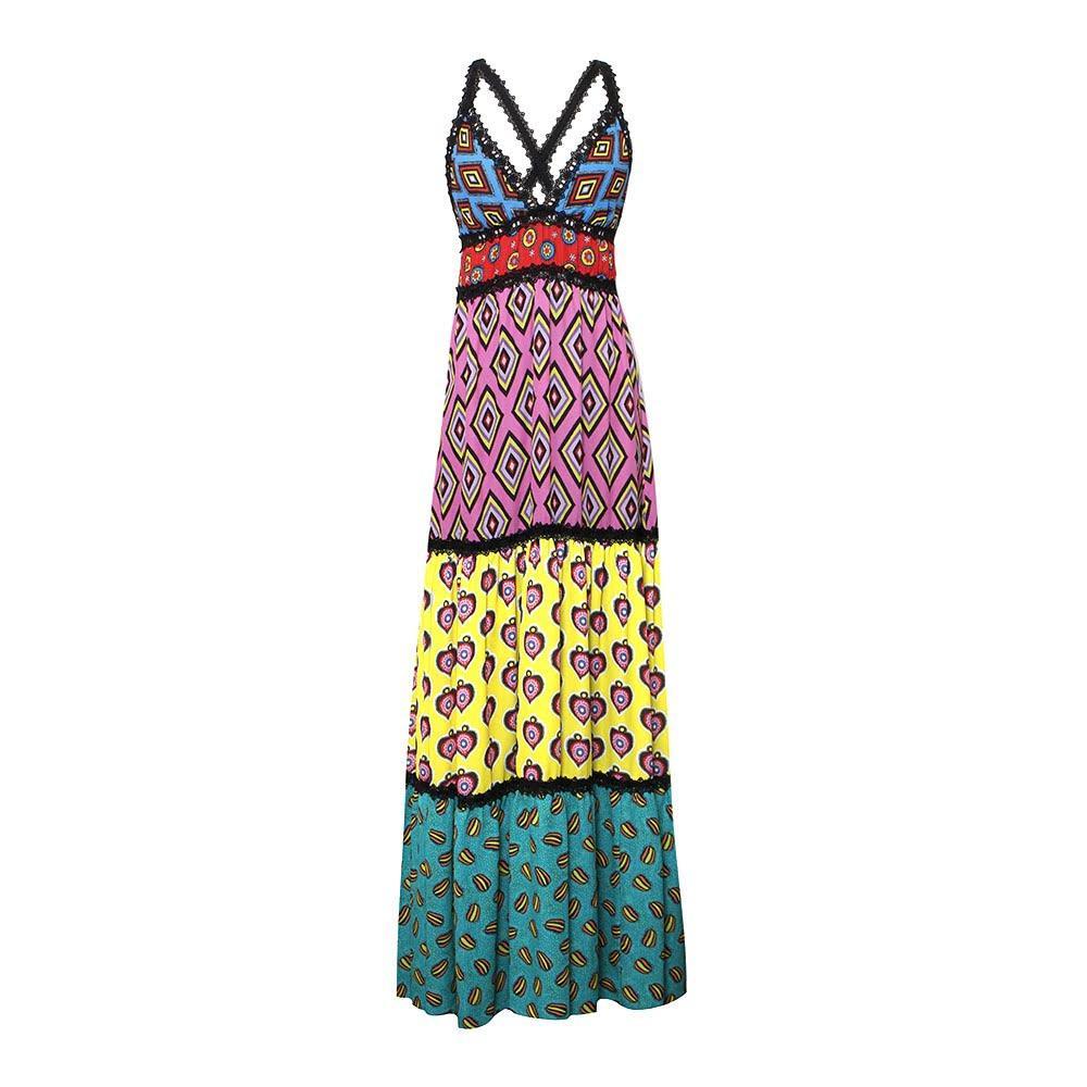 Alice + Olivia Size 2 Xs Print Maxi Dress