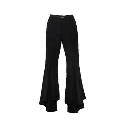 Rosie Assoulin Size Medium Black Flared Pants