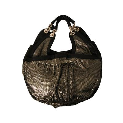 Malini Murjani Black Leather Handbag