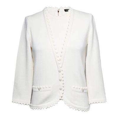 Chanel Size 34 Cream Cashmere Sweater
