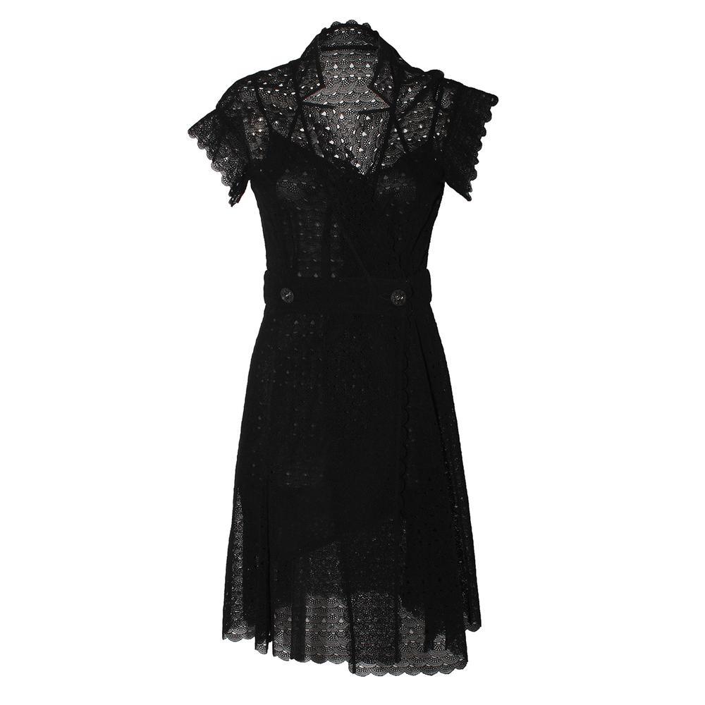 Chanel Size 38 Wrap Dress With Slip