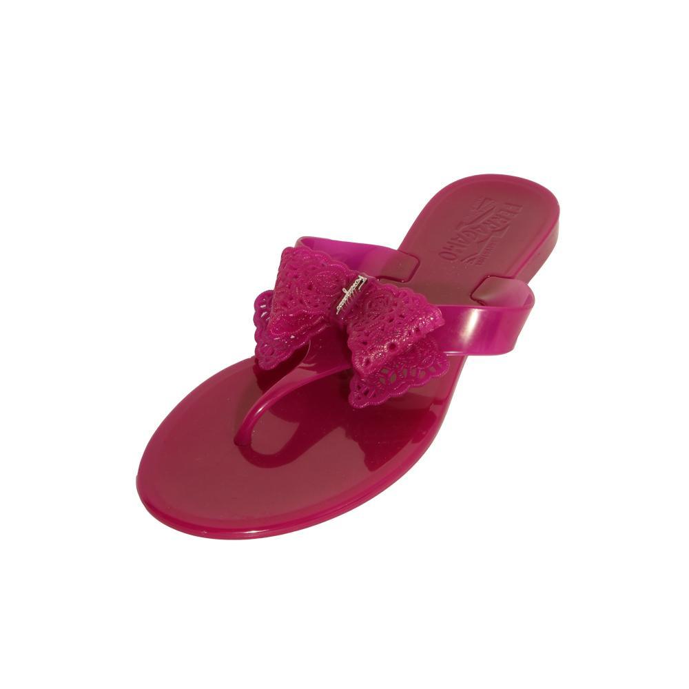 Salvatore Ferragamo Size 4 Jelly Thong Slides
