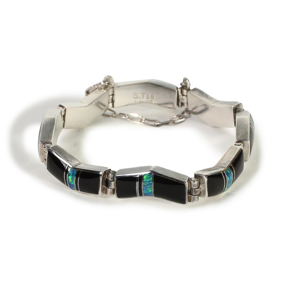 Sheila Tso Multi Inlay Wave Bracelet