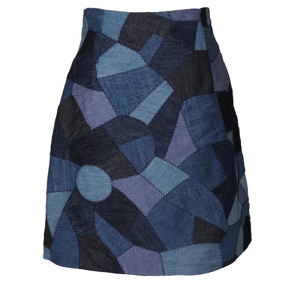 Christian Dior Size 4 Patchwork Skirt