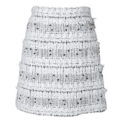 Chanel Size 36 White Skirt