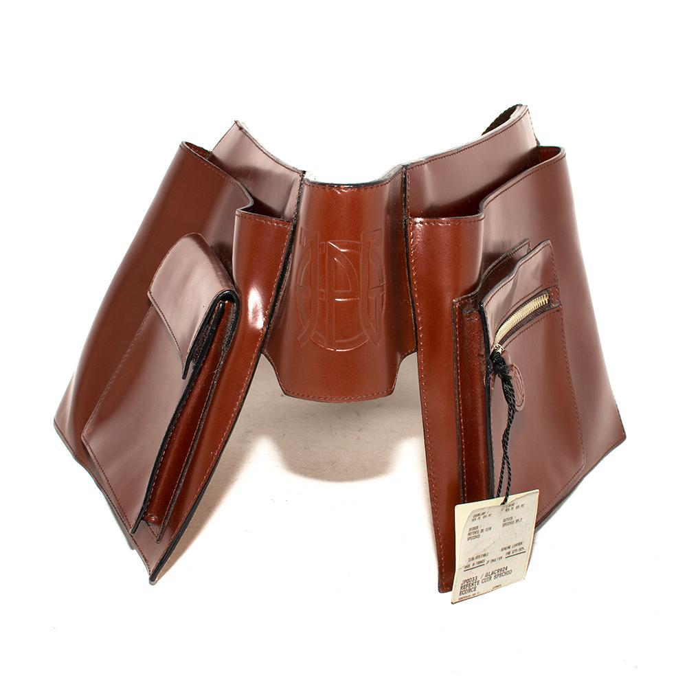John Paul Gaultier Leather Adjustable Velcro Belt Bag
