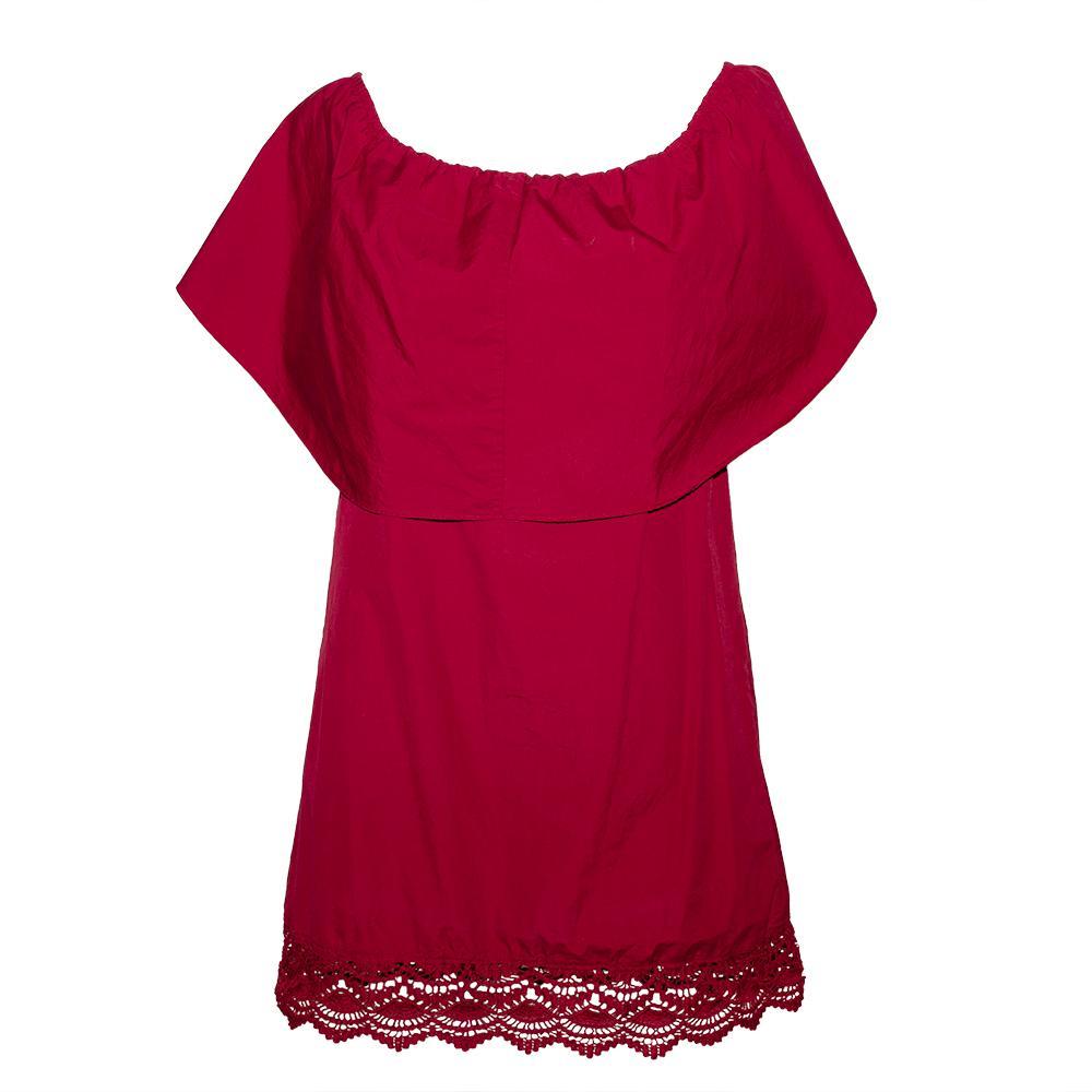 Alice + Olivia Size Small Burgundy Short Dress