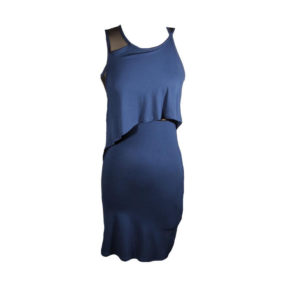 Alexander Mcqueen Size 2 Sheer Back Navy Dress