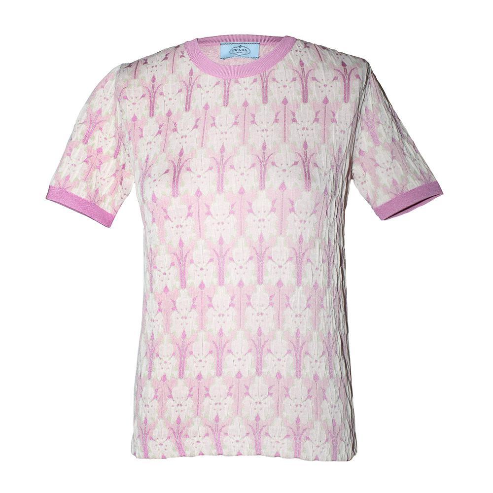 Prada Size 42 Pink Knit Top