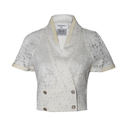 Chanel Size 36 2016 Lace Pattern Evening Jacket