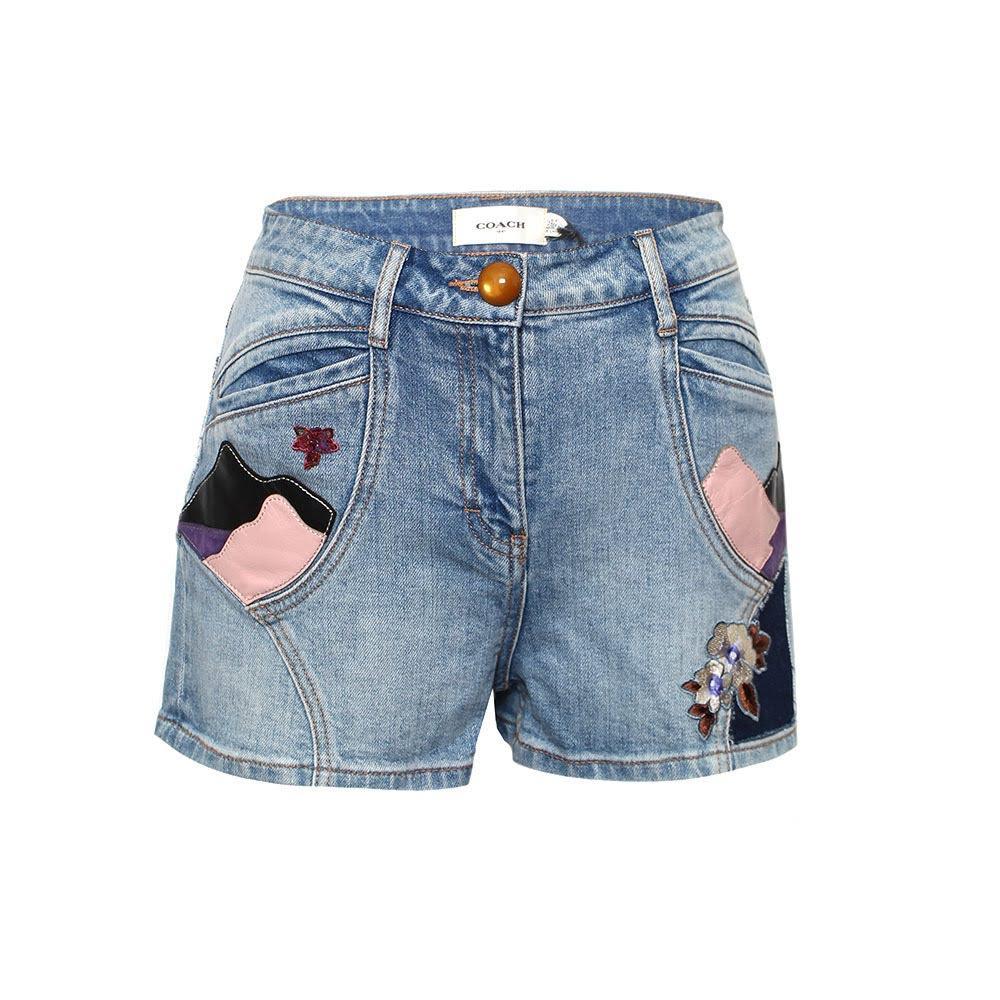 Coach Size 4 Denim Shorts