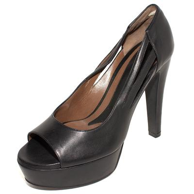 Marni Size 40 Black Leather Platform High Heels