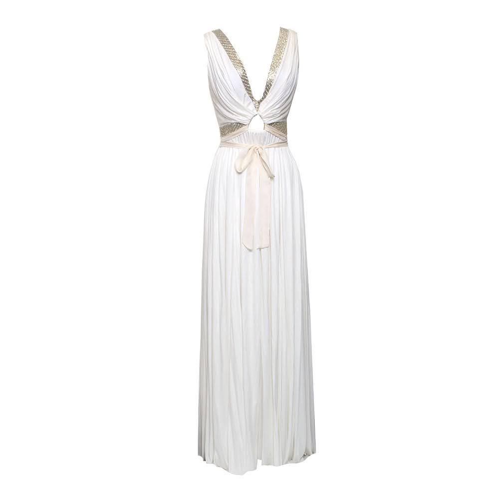Roberto Cavalli Size 2 White Dress