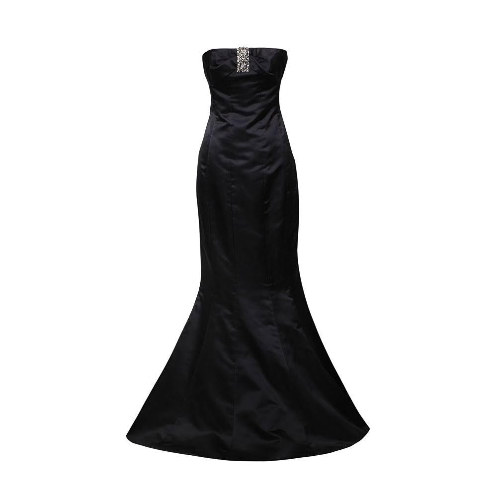 Reem Acra Size 8 Black Gown