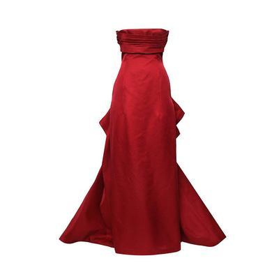 Carolina Herrera Size 4 Red Gown