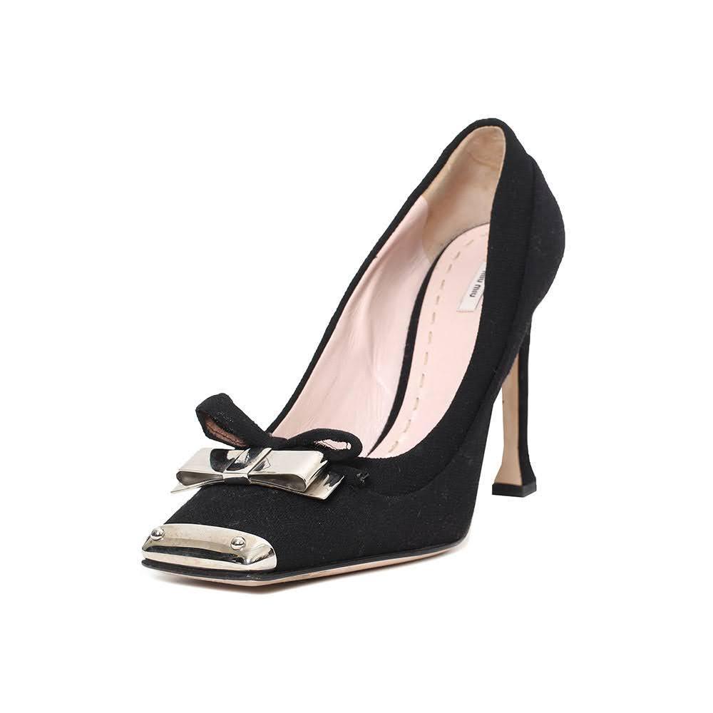 Miu Miu Size 39 Black Heels